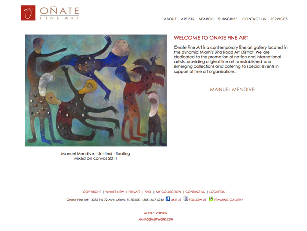 Click to open Onate Fine Art Website