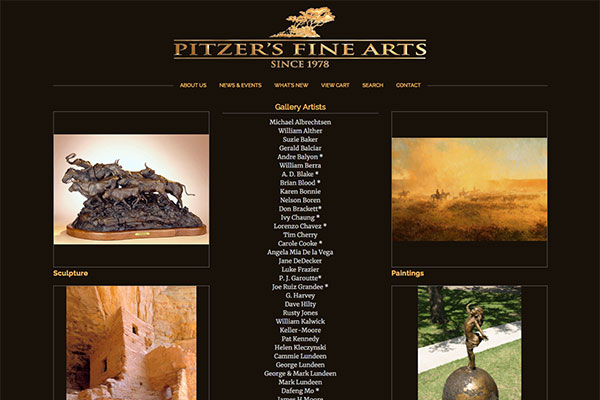 Click to open Pitzer's Fine Arts Website